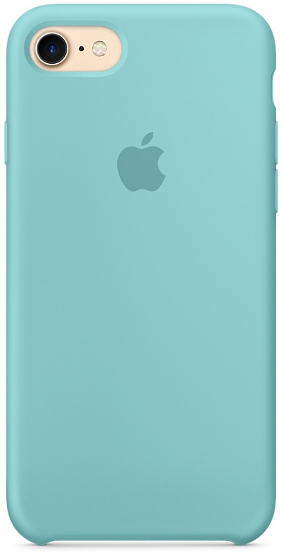 Накладка Apple iPhone 7/8 Silicon Case (Бледно-голубой)