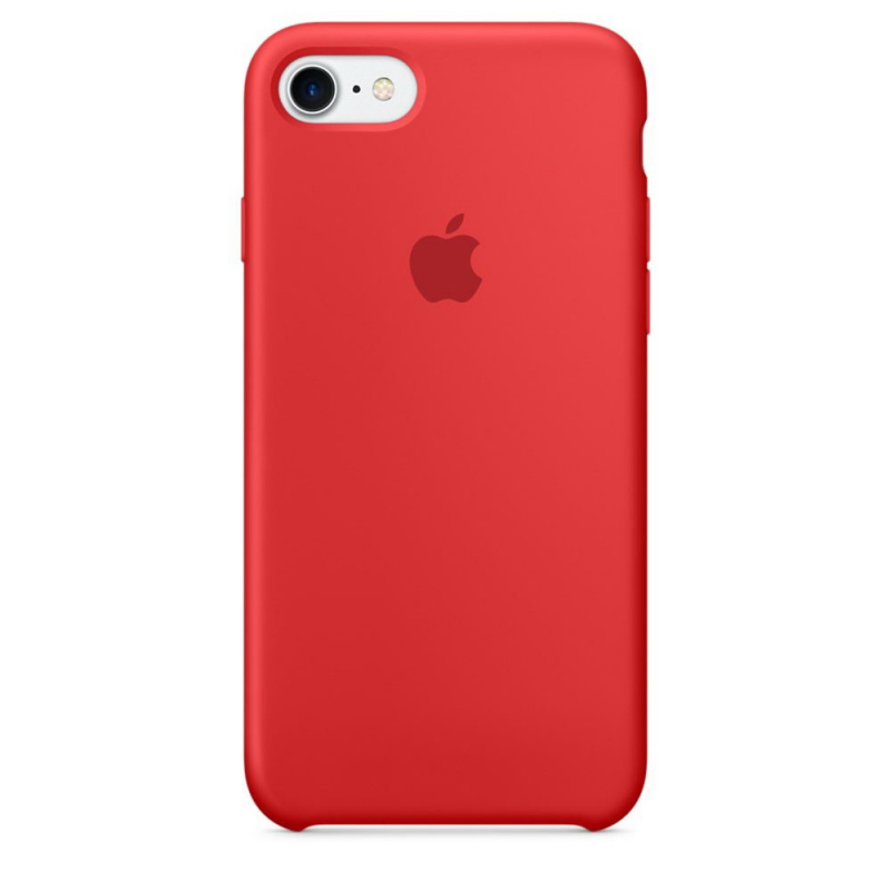Накладка Apple iPhone 7/8 Silicon Case (Красный)