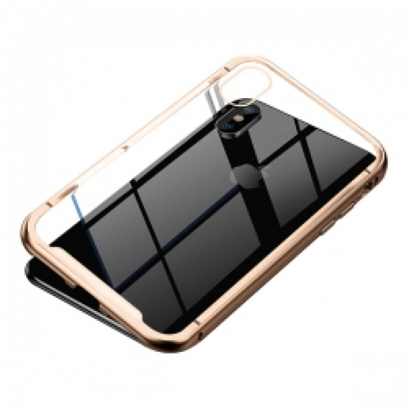 Накладка iPhone X Baseus Magnetite Hardware (Золотой)